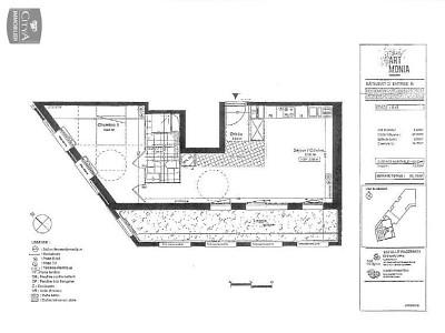 APPARTEMENT T2 A LOUER - LILLE WAZEMMES - 50,38 m2 - 805 € charges comprises par mois