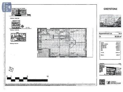 APPARTEMENT T3 A LOUER - LILLE SUD CHR - 69,9 m2 - 950 € charges comprises par mois
