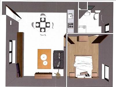 APPARTEMENT T2 A LOUER - COMINES - 48,7 m2 - 540 € charges comprises par mois