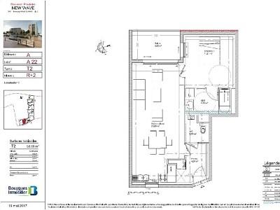 APPARTEMENT T2 A LOUER - LILLE SUD CHR - 50,99 m2 - 685 € charges comprises par mois