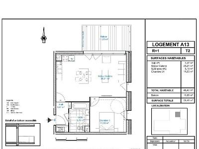 APPARTEMENT T2 - LILLE WAZEMMES - 48,4 m2 - LOUÉ