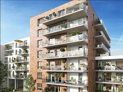 APPARTEMENT T2 A LOUER - LILLE WAZEMMES - 44,52 m2 - 730 € charges comprises par mois