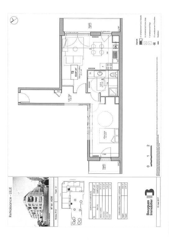 APPARTEMENT T2 A LOUER - LILLE SUD CHR - 53,87 m2 - 650 € charges comprises par mois