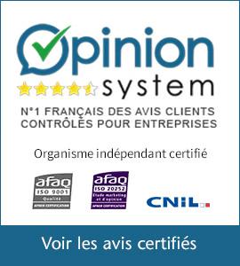 Voir les avis sur le site Opinion System