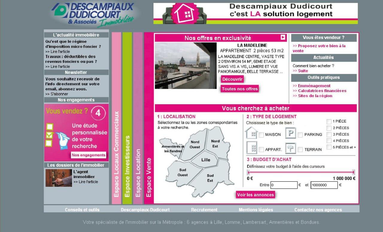 N°63 : L'internet et l'immobilier : www.descampiaux.fr